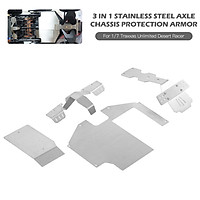 3 In 1 Stainless Steel Axle Protection Armor Chassis Armor Set For 1/7 Traxxas Unlimited Desert Racer UDR