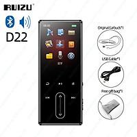 RUIZU D22 MP3 Player Bluetooth 8GB Portable Audio Music Player Walkman Built-in Speaker Support FM Radio Recording E-Book Pedometer