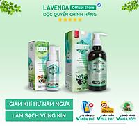 Combo xịt rửa hàng ngày đẩy lùi nấm ngứa vùng kín, Khử sạch mùi hôi, giảm thiểu khí hư, bảo vệ vùng kín khỏi viêm nhiễm phụ khoa hiệu quả bởi dung dịch rửa và xịt phụ khoa Lavenda