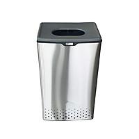 Thùng đồ giặt JYSK nID Lary inox 430/nắp nhựa ghi đậm D29xR40xC69cm,40 lít