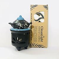 Combo đèn xông tinh dầu nến ấm trà + nến Lasante DN-12