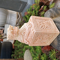Tượng Ấn rồng đá phong thủy đá cà rốt cao 16cm - đá Non Nước
