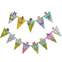 DÂY TREO TAM GIÁC HAPPY BIRTHDAY THÚ RỪNG