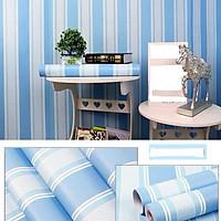 Combo 10M decal giấy dán tường Sọc xanh Dương (10mx0.45m) - decalsusu