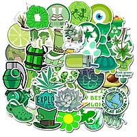 Bộ 50 miếng Sticker hình dán Green stub