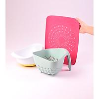 Set 3 đồ nhựa dùng nhà bếp đa năng phong cách Hàn Quốc