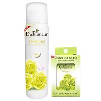Combo Xịt khử mùi toàn thân Enchanteur Delightful 150ml +Nước hoa bỏ túi Delightful 18ml