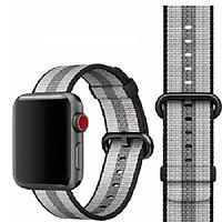 Dây Đeo Đồng Hồ Dành Cho Apple Watch Woven Nylon Sọc Nâu Xám- 38/42mm