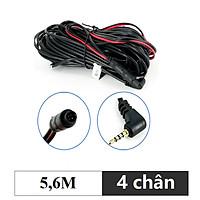 Dây tín hiệu kết nối camera hành trình và camera lùi, jack 2.5mm, 4 chân, dài 5,6M - Mã: DN4C