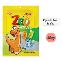Kẹo dẻo Zoo Bibica áo dầu túi 200g