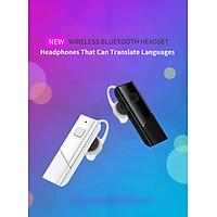 HT20 Smart Voice Translator Wireless Headset Bluetooth5.0 Earphone Multi Languages Instant Real-time Translation