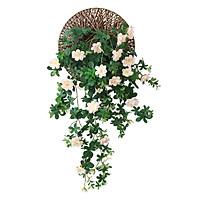 Hoa lụa vải giả-Hồng leo&Giỏ mây