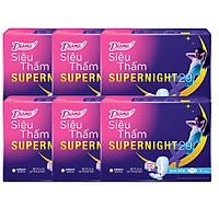 Combo 6 Băng Vệ Sinh Diana Super Night Có Cánh 29cm (Gói 4 Miếng)