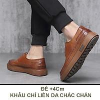 Giày Da Nam Buộc Dây Da Bò Đế Khâu Mã BH-730