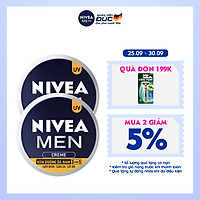 Combo 2 Kem Dưỡng Da Nam NIVEA MEN Creme 3in1 Giúp Giảm Nhờn, Sáng Da, Cấp Ẩm (30ml) - 83923