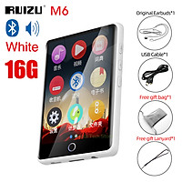 RUIZU M6 Walkman Bluetooth-compatible MP3 Player Full Touch Screen 8GB/16GB HIFI Music Player With E-Book Video Player Built-in Speaker Audio Player Support TF Card