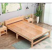 Giường ngủ gỗ thông xếp gọn 1m2