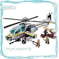 Đồ chơi lắp ráp Mô hình Máy bay trực thăng tấn công Qman 1719 (280 mảnh ghép)