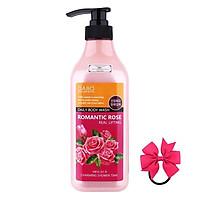 Sữa tắm trắng da Hàn Quốc tinh chất từ hoa Hồng Dabo Romantic Rose (750ml) – Hàng chính hãng [ tặng dây cột tóc nơ }