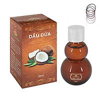 Dầu Dừa Đa Năng Nguyên Chất 100% dưỡng ẩm cho làn da mềm mịn, phục hồi hư tổn tóc và tăng cường sức đề kháng cho cơ thể + Tặng Kèm 5 Dây Buộc Tóc Màu Ngẫu Nhiên  - Hàng Chính Hãng.