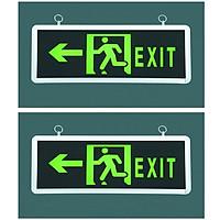Bộ 2 đèn Exit rẽ trái có mũi tên chỉ dẫn