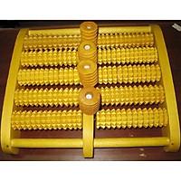 Bàn lăn massage chân 5 hàng bằng gỗ thủ công