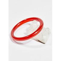 Vòng tay phong thủy đá mã não đỏ bản tròn mệnh hỏa , thổ - Ngọc Quý Gemstones
