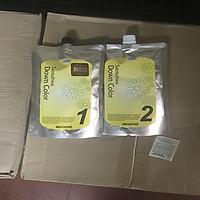 Nhuộm túi phủ bạc thảo dược thời trang màu nâu (Hàn Quốc) mugens sansuhwa down color brown  2 x 450g