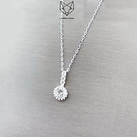 Dây Chuyền Bạc Nữ S99 CaoBac Silver Mặt Ổ Đá Tròn Đuôi Dài Xinh Xắn Cho Bạn Nữ Dạo Phố