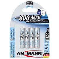 Pin Sạc Pin Sạc AAA-800 BL4 ANSMANN vỉ 4 viên - Hàng Nhập Khẩu