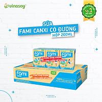 Thùng 36 Hộp Sữa đậu nành Fami Canxi (200ml/Hộp)