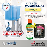 Máy Tăm Nước Waterpik Nano WP-250 + Tặng 1 nước súc miệng TheraBreath thương hiệu Mỹ
