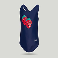 Speedo / speed than the Tao play fruit series youth one-piece swimsuit cute print anti-chlorine quick-drying 807386F244 sea blue strawberry 9-10