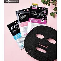 (Hộp 5 cái) Mặt Nạ Than Tre Siêu Dưỡng Ẩm Nhật Bản Alface Aqua Moisture Sheet Mask Twinkle Black, Dành Cho Da Nhăn, Lão Hóa, Với 17 Loại Axit Amin, Chất Chống lão Hóa, Vitamin C, Mật Ong