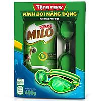 Thức Uống Lúa Mạch Nestlé Milo Nguyên Chất Hũ Nhựa (400g) - Tặng Kèm Kính Bơi Năng Động