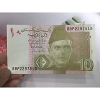 Tiền 10 Rupees của Pakistan ở châu Á, tặng phơi nylon bảo quản tiền