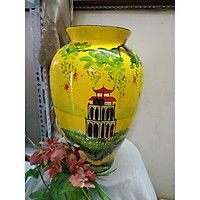 Bình hoa vẽ phong cảnh gốm sứ Bát Tràng
