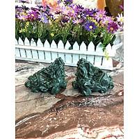 Cặp Tỳ Hưu phong thủy đá ngọc Ấn Độ - Dài 10 cm