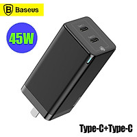 Baseus GaN Fast Charger 45W PD3.0 QC3.0 SCP AFC Power Adapter Quick Charging For Laptop Notebook iPhone 11 Pro MacBook