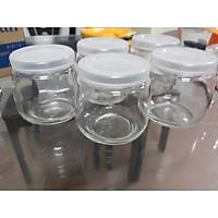 Set hũ thủy tinh làm sữa chua 200 ml DÁNG BỤNG BÉO, hũ thủy tinh đựng hương liệu, mật ong, làm sữa chua