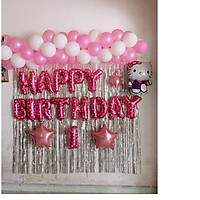 combo bóng bay trang trí sinh nhật cho bé trai và bé gái 006