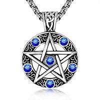 Dây chuyền Witchcraft phù thủy cho nam và nữ - Mặt dây hình ngôi sao 5 cánh đính đá