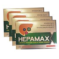 Combo 4 hộp Thực phẩm chức năng Hepamax chứa Fucoidan – Giúp phòng chống Xơ gan, Ung thư gan, tăng Cường Chức Năng Gan Cho Người Uống Nhiều Rượu Bia, Hút Thuốc Lá, Thanh nhiệt giải độc Gan