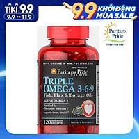 Viên uống tăng cường hệ miễn dịch Puritan's Pride Triple Omega 3-6-9 (120 viên)