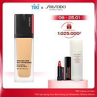 Bộ sản phẩm Phấn nền dạng lỏng Shiseido Synchro Skin Self-Refreshing Foundation 30ml tặng bộ trang điểm