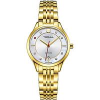 Đồng hồ nữ mặt xà cừ đính đá chĩnh hãng Thụy Sĩ TOPHILL TE050L.S2687