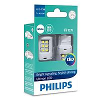 Bóng đèn tín hiệu báo phanh hậu xe ô tô Philips Ultinon LED 11066ULWX2 12V 6000K - Trắng