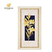 Tranh Hoa ly dát vàng (18x40cm) M02 MT Gold Art- Hàng chính hãng, trang trí nhà cửa, phòng làm việc, quà tặng sếp, đối tác, khách hàng, tân gia, khai trương