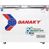 Tủ đông Sanaky Inverter 195 lít 1 ĐÔNG 1 MÁT 2 CỬA MỞ VH-2599W4K - HÀNG CHÍNH HÃNG - CHỈ GIAO HCM