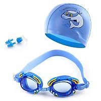 Bộ kính bơi, Mũ bơi, Bịt tai kẹp mũi trẻ em POKI 4700